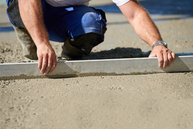 Portland Concrete Resurfacing worker